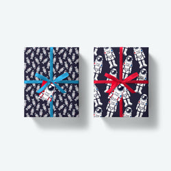 Astronaut Duo — Blast Off Series — Wrapping Paper and Gift Tag Set