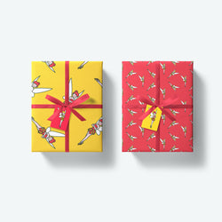 'Tink and Tippy' Fairy — Festive Wrapping Paper and Gift Tags Set