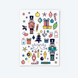 'Ivan and Drummer' Nutcrackers — Christmas Sticker Set (2)