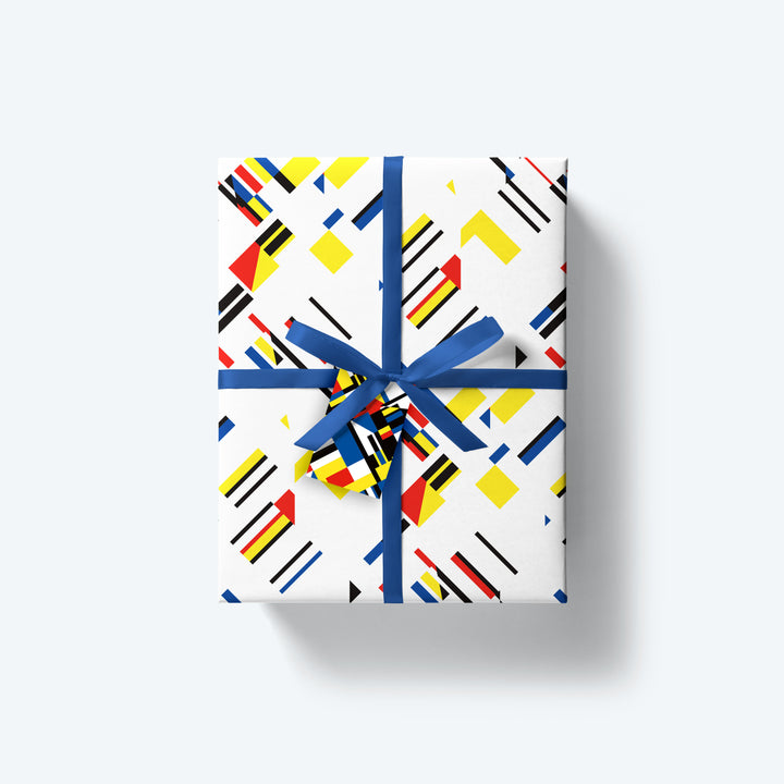 Minimalist Primary — M/M Series — Wrapping Paper and Gift Tag Set