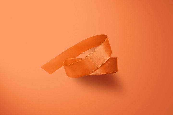 Flo Orange 3m Double-Satin Ribbon - Storigraphic | Crafted Paper Goods