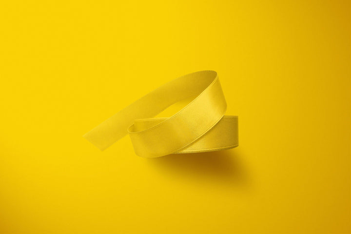 Sunshine Yellow 3m Double-Satin Ribbon - Storigraphic | Crafted Paper Goods