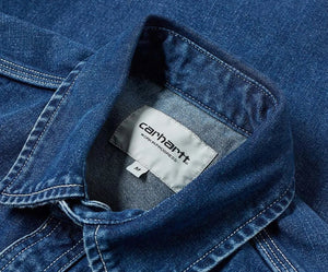 Carhartt WIP Barlow Short Blue Dark Stoned Wash
