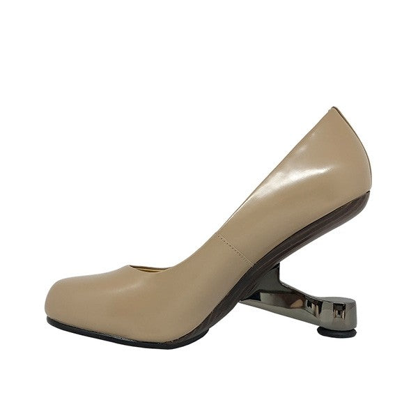 United Nude Eamz Pump Taupe Leather