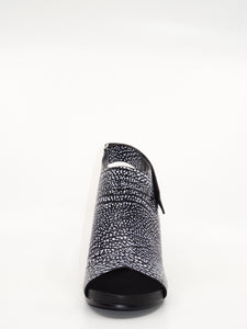 United Nude Eamz Bootie Sandal Black & White Leather