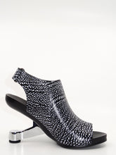Load image into Gallery viewer, United Nude Eamz Bootie Sandal Black & White Leather
