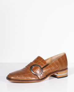 Django & Juliette Farrah Tan Croc Leather
