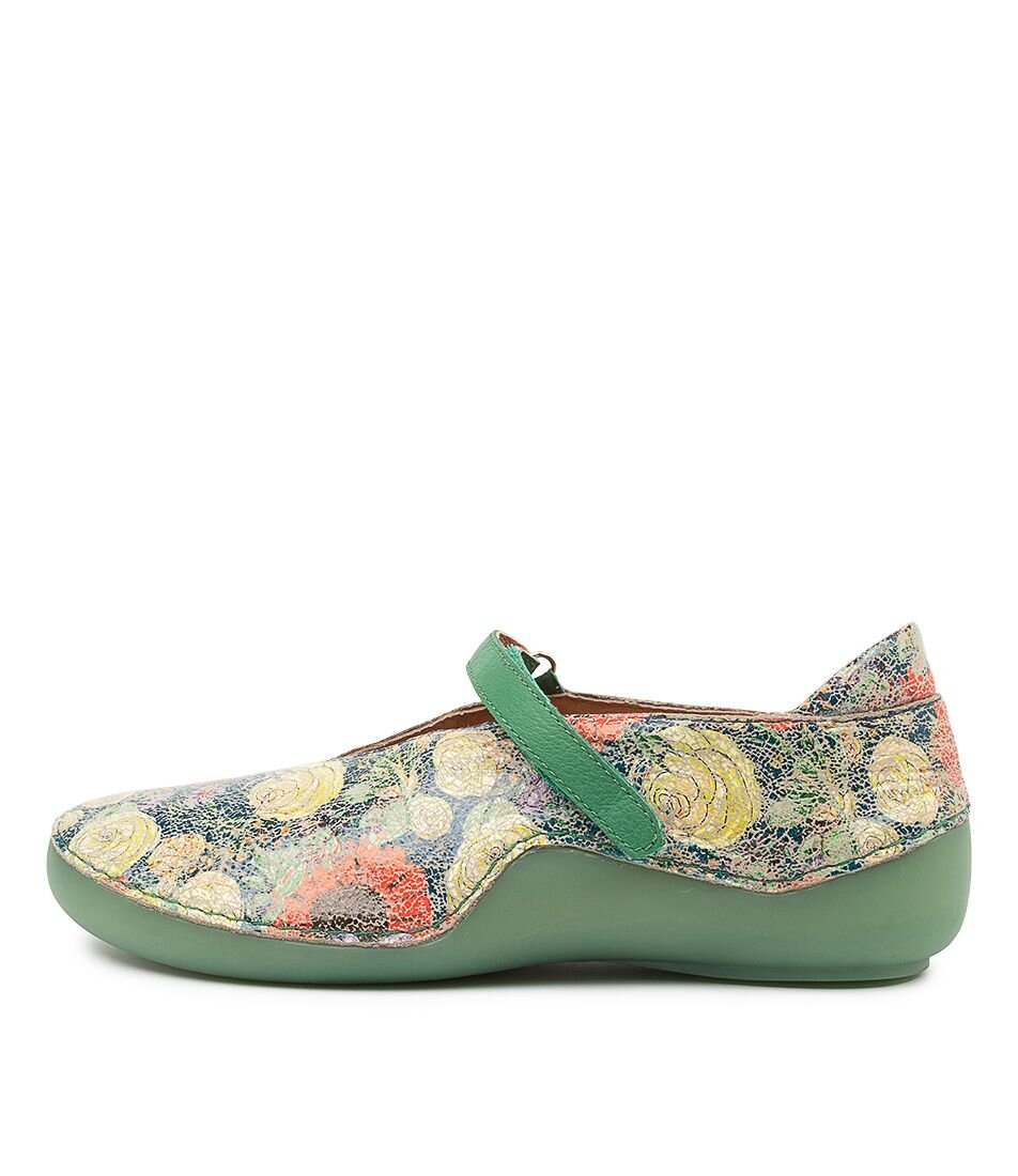 Django & Juliette Gotti Blue Floral Emerald Leather