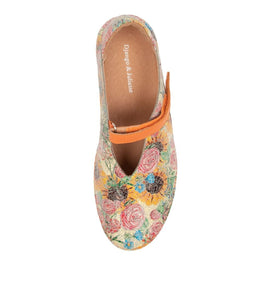 Django & Juliette Gotti Orange Floral Leather