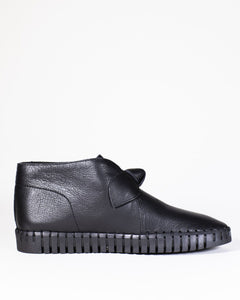 Django & Juliette Halogen Black Leather Black Sole