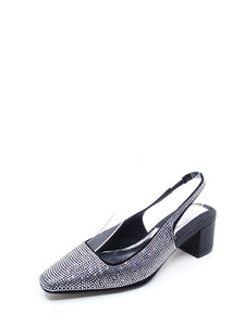Jaggar Diamante Slingback Black