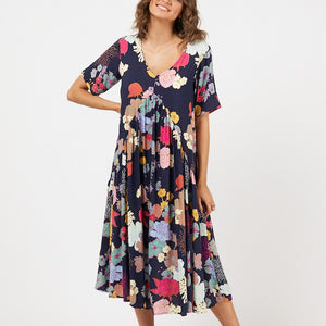 Label of Love Woven Dress Black Floral