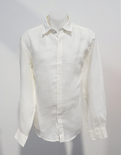 Load image into Gallery viewer, Phillips Linen L/S Shirt White
