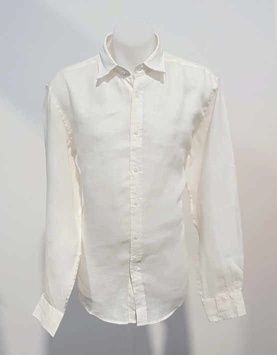Phillips Linen L/S Shirt White