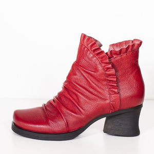 Minki Vixen Red Leather