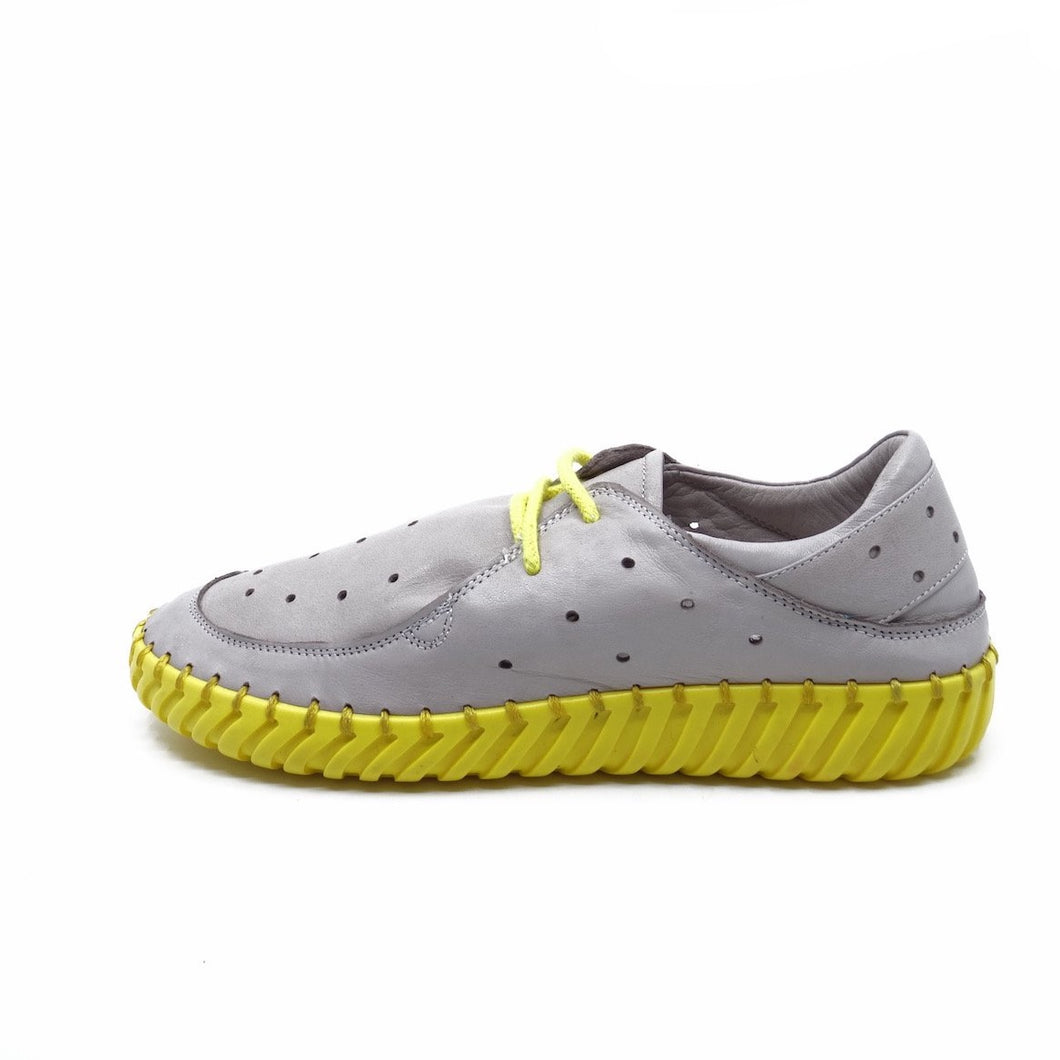 Molly Bessa Selma Grey/Yellow Leather