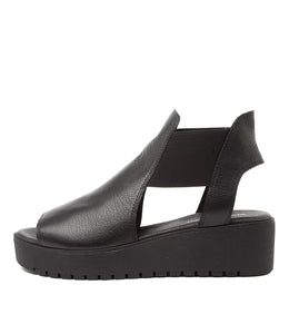 Django & Juliette Ozie Black Leather Black Sole