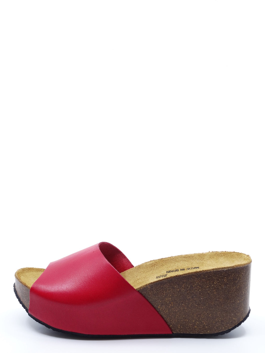Plakton Mule Rojo Leather