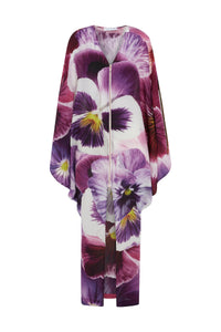 House of Cannon Zip Kimono Purple Pansy