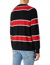 Load image into Gallery viewer, Neuw Denim Syngle Linen Knit Red Black Stripe