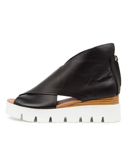 Top End Rolandy Black Leather White Sole
