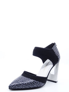 United Nude Zinc D'Orsy Hi Black & White Leather