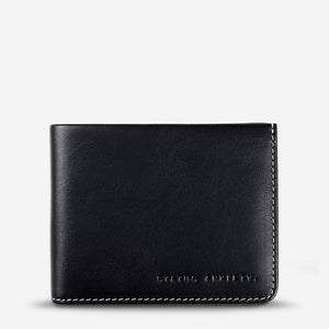 Status Anxiety Alfred Wallet Black Leather