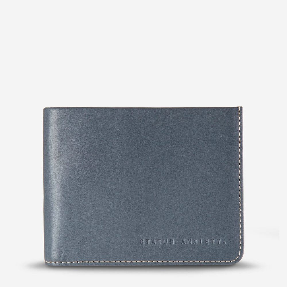 Status Anxiety Alfred Wallet Slate Leather