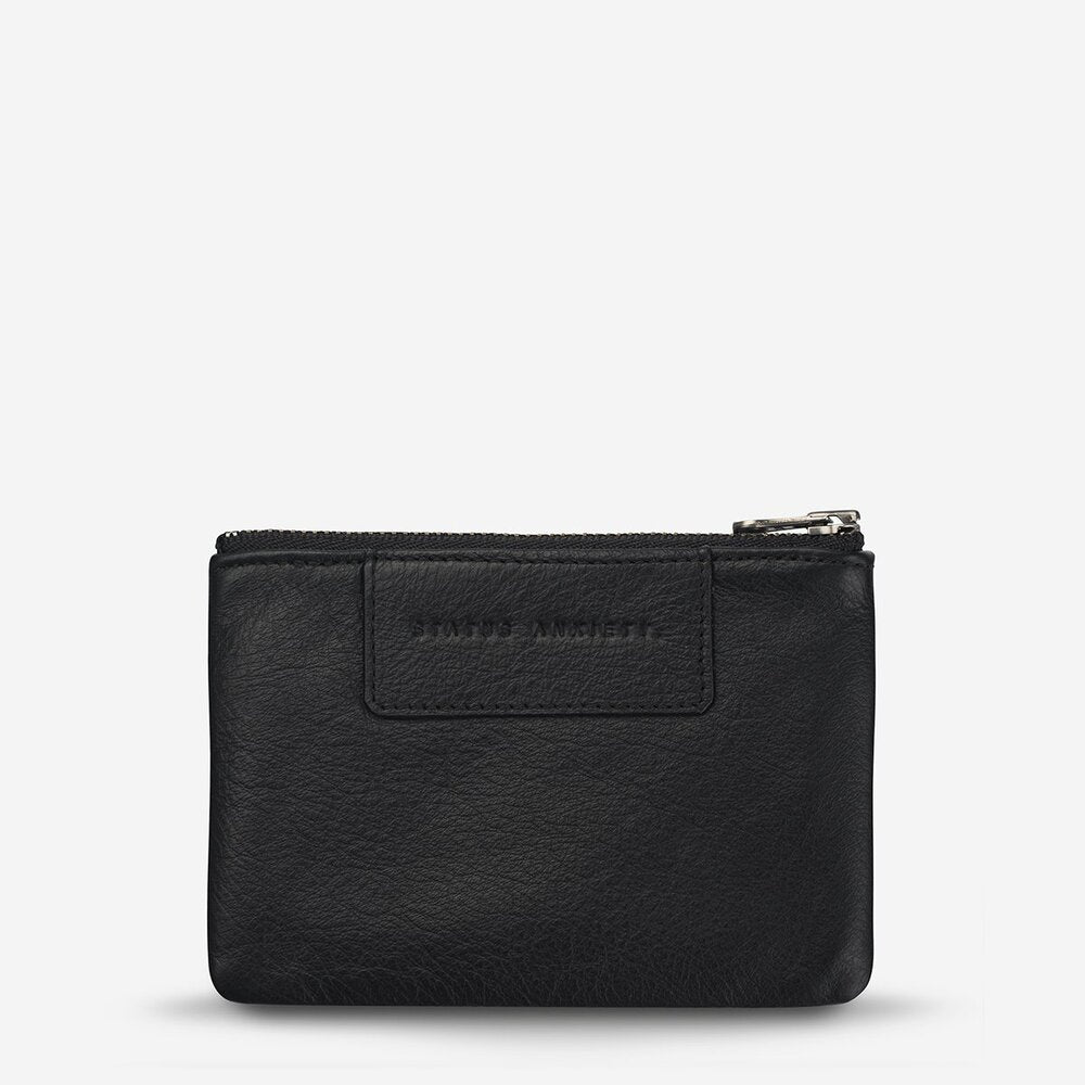 Status Anxiety Anarchy Purse Black Leather