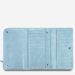 Status Anxiety Audrey Wallet Sky Blue Leather