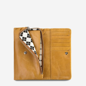 Status Anxiety Audrey Wallet Tan Leather