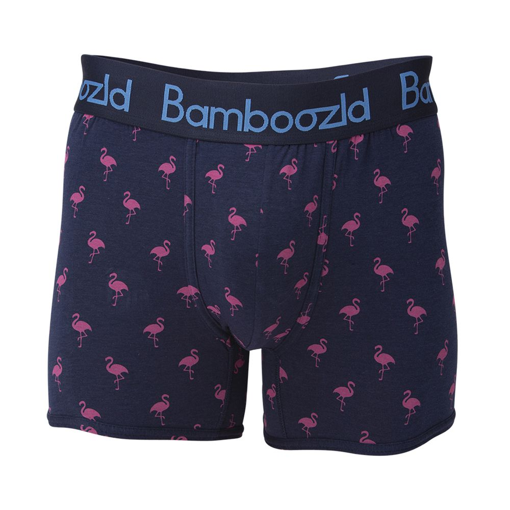 Bamboozled Mens Underwear Trunk Flamingo