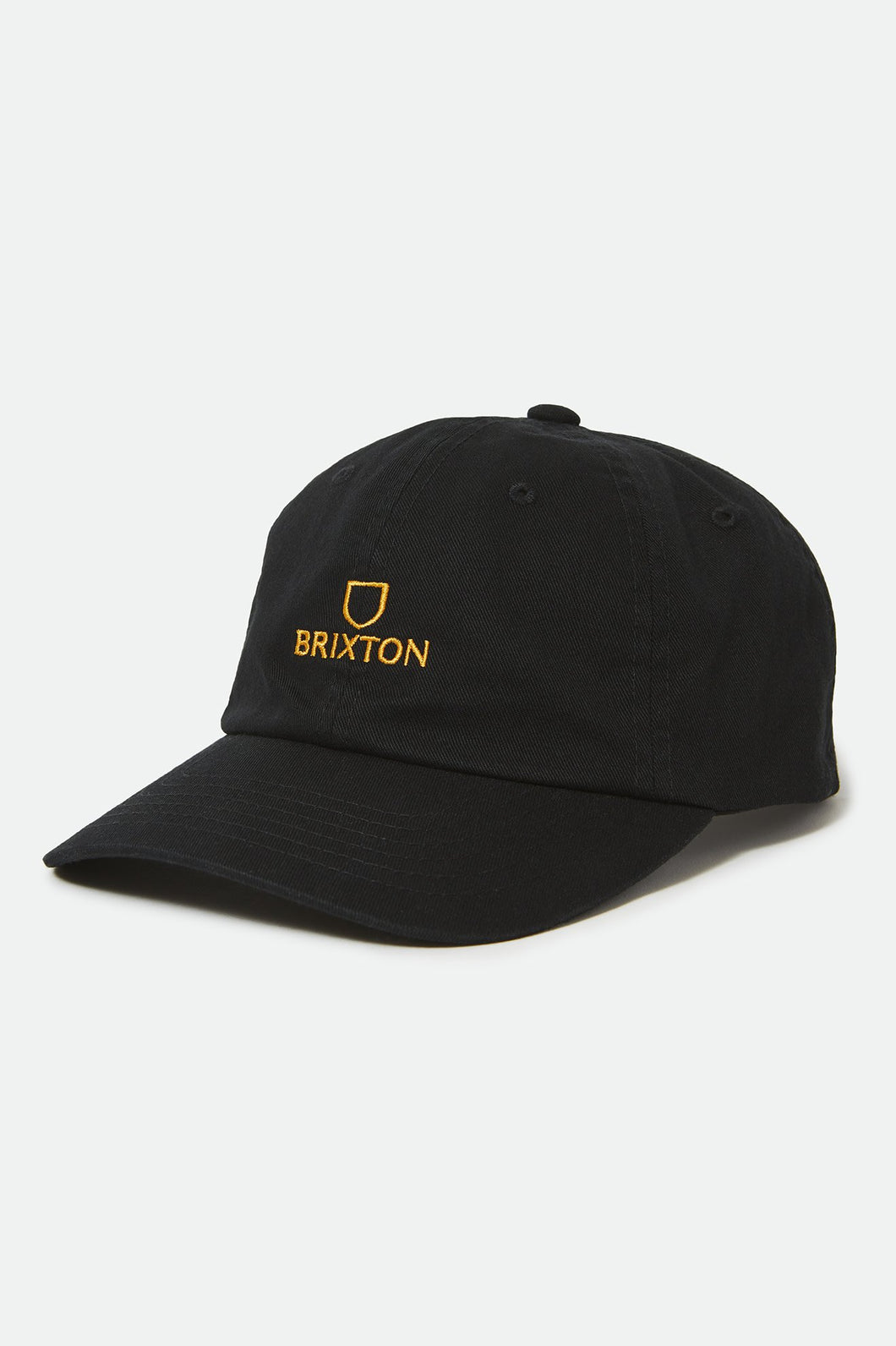 Brixton Alpha MP Snapback Black/Gold