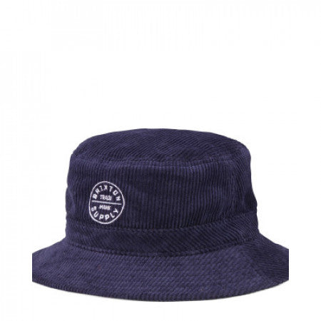Brixton Oath Bucket Hat Navy