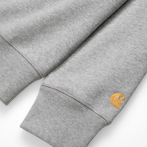 Carhartt WIP Chase Sweat Grey Heather/Gold