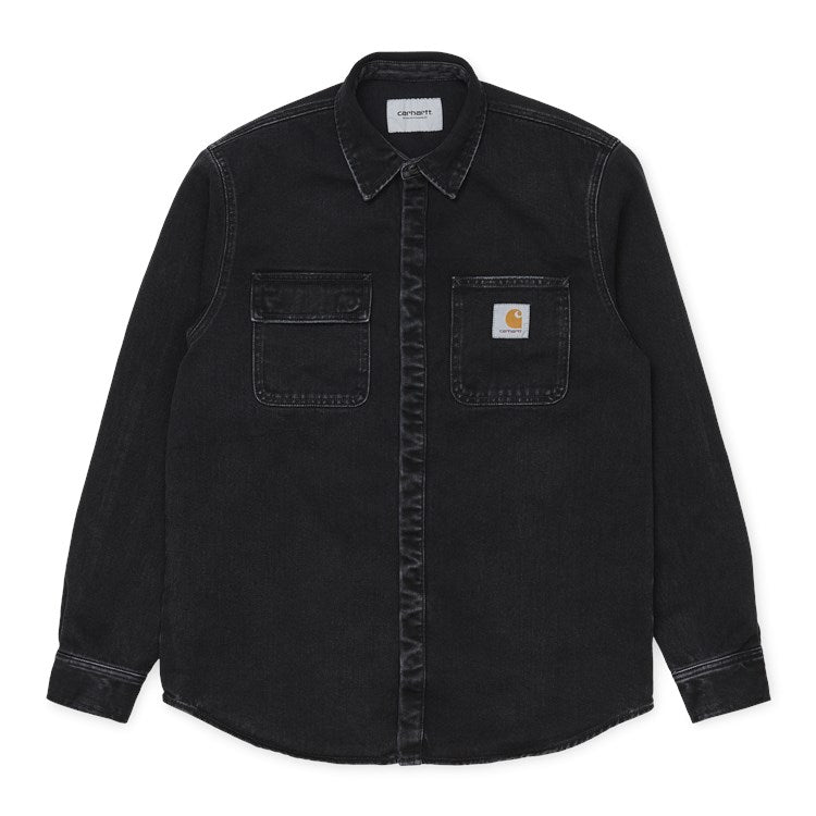 Carhartt WIP Salinac Shirt Jacket Black Stone Washed