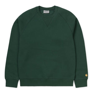 Carhartt WIP Chase Sweat Bottle Green/ Gold