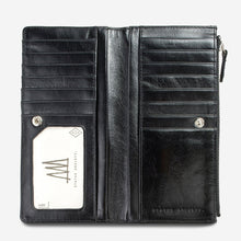 Load image into Gallery viewer, Status Anxiety Dakota Wallet Black Leather