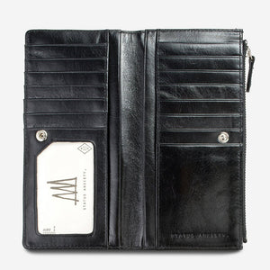 Status Anxiety Dakota Wallet Black Leather