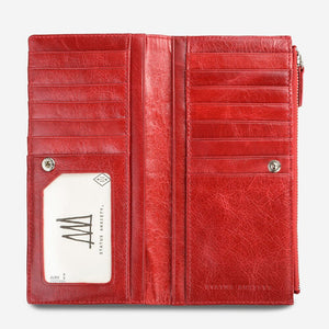 Status Anxiety Dakota Wallet Red Leather
