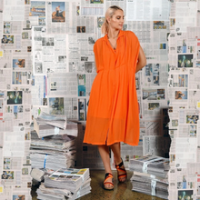 Load image into Gallery viewer, M. A. Dainty Digest Dress Tangerine