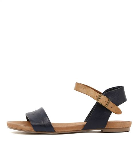 Django & Juliette Jinnit Navy / Tan Leather