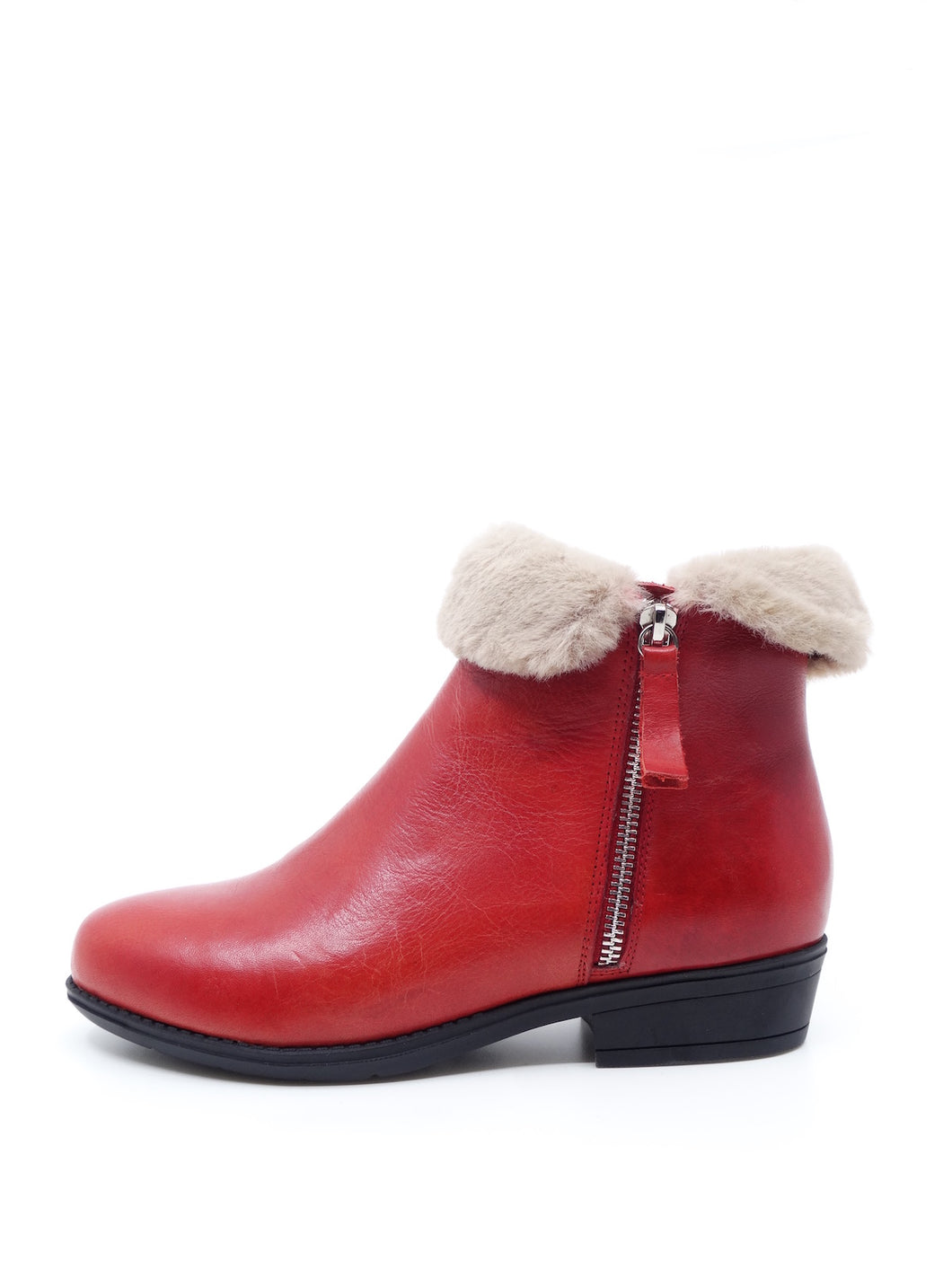Django & Juliette Roadter Red Leather Fur