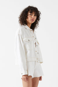 Dr Denim Khalila Cropped Jacket Light Ecru