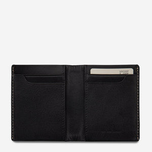 Status Anxiety Edwin Wallet Black Leather