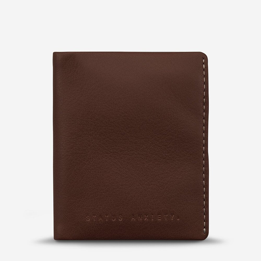 Status Anxiety Edwin Wallet Chocolate Leather
