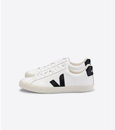VEJA Esplar White Black Leather