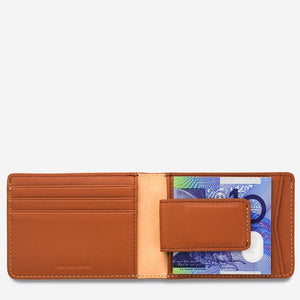 Status Anxiety Ethan Wallet Camel Leather