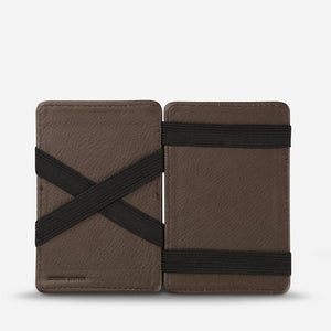 Status Anxiety Flip Wallet Chocolate Leather