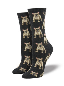 Socksmith 'Frenchie' Charcoal Heather Womens Socks